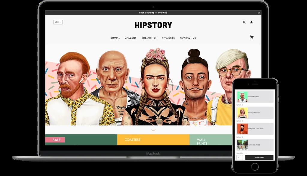 Hipstory Mockup